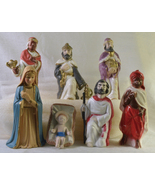 #0344 -- 7 piece Vintage Plastic Nativity set  - $25.00