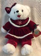 Dan Dee Collectors Choice 2007 Snowflake Winter Teddy Bear - $26.48