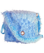 Blue Hand Knit Handbag - $33.00