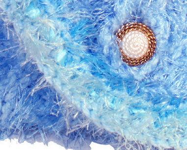 Blue Hand Knit Handbag
