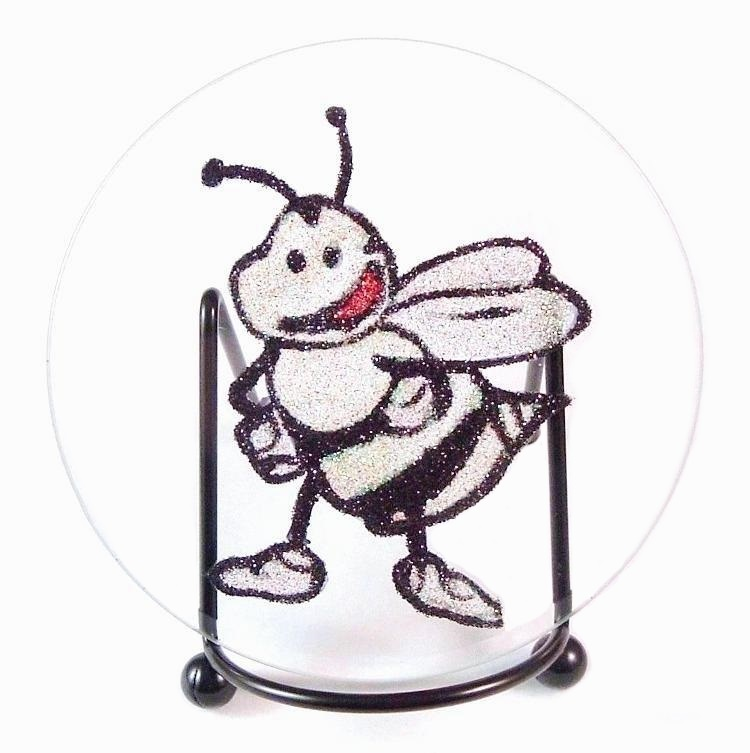 Bee glass stand