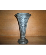 Metal Urn .Vase , Flower Pot Holder , with Sunflowers and Scroll Design ... - $20.00