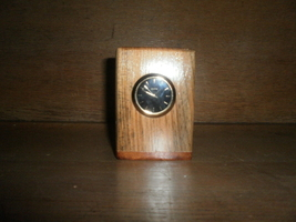 Wooden Pen Holder with Clock , Hand Crafted By ... - $15.00