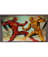 DC Flash vs Reverse Flash Glossy Print 11 x 17 In Hard Plastic Sleeve - $24.99