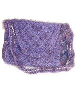 Sparkly purple hand knit handbag - $33.00