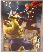 Incredible Hulk vs Thor Glossy Print 11 x 17 In Hard Plastic Sleeve - $24.99