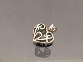 Vintage Sterling Silver Celtic Heart Charm Pendant - $12.99