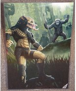 Predator vs The Planet Of The Apes Glossy Print 11 x 17 In Hard Plastic ... - $24.99