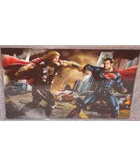 Superman vs Thor Glossy Print 11 x 17 In Hard Plastic Sleeve - $24.99