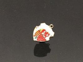 Vintage Sterling Silver Enamel Charm Pendant - $7.00