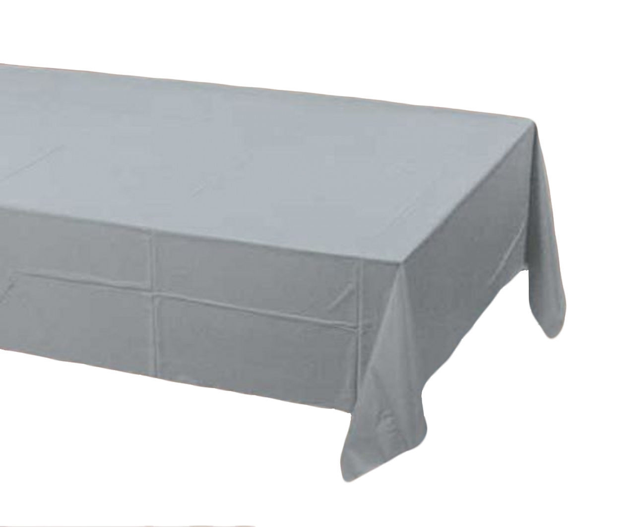 2 Creative Converting Paper - plastic lined  Banquet Table Covers - Silver
