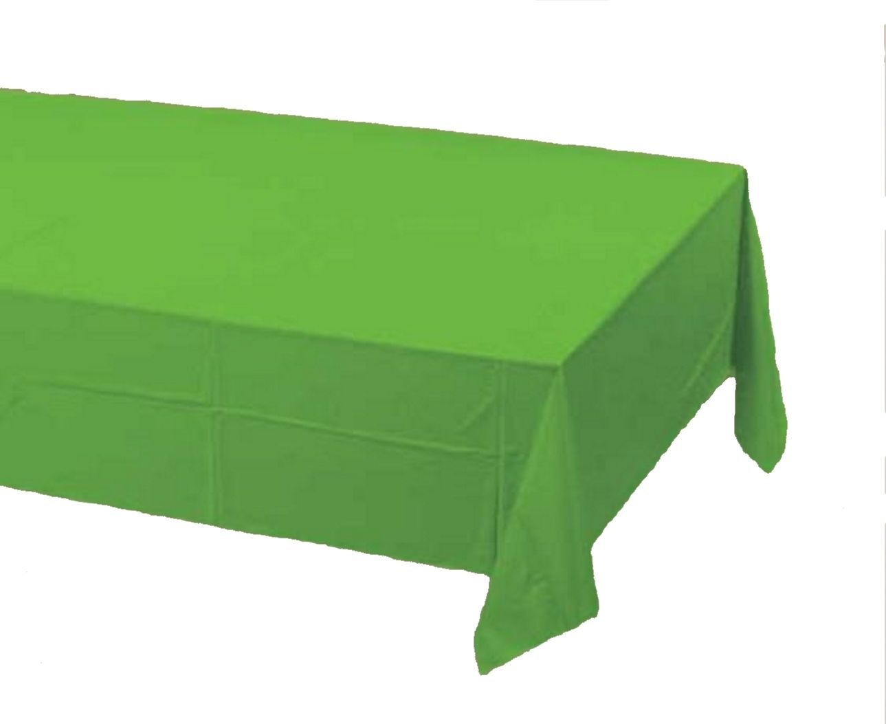 2 Creative Converting Paper - plastic lined  Banquet Table Covers Citrus green