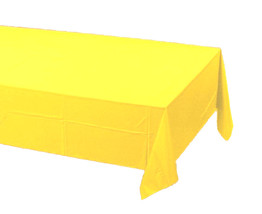 2 Creative Converting Paper - plastic lined  Banquet Table Covers - yellow - £5.23 GBP
