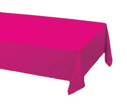 2 Creative Converting Paper - plastic lined  Banquet Table Covers - hot pink - $6.88