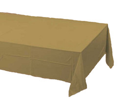 2 Creative Converting Paper - plastic lined  Banquet Table Covers - gold - $6.88