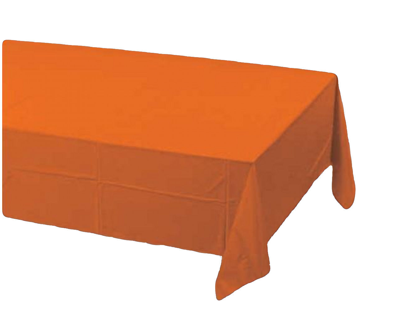 2 Creative Converting Paper - plastic lined  Banquet Table Covers - Orange