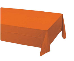 2 Creative Converting Paper - plastic lined  Banquet Table Covers - Orange - $6.88