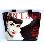 Audrey Hepburn Vintage Classic Wide Tote Shoulder Bag Purse - $30.00