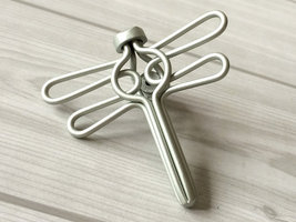Silver Dresser Knobs Drawer Pulls Cabinet Door Knob Dragonfly Wrought Iron Look - $7.00