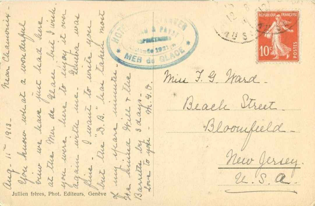 France, Chamonix, Mer de Glace, et chemin de fer du Montenvers, used Postcard