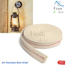 "Oil Lamp Lantern Flat Cotton Wick15 feet 3/4"" DIY Construction - $8.16"