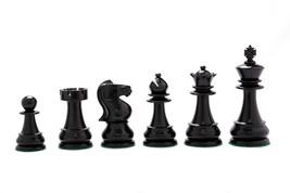 "Antique Circa 1870-1900 Staunton Chess Pieces in Ebony & Box Wood-4.2"" S... - $331.99"