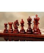 "Indian Chetak II Staunton Chess Set in Bud Rose Wood/Box Wood - 4.2"" Kin... - $492.99"