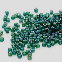 Miyuki Delicas 11/0, Matte Emerald Green AB 859, 50g glass delica beads - $15.75