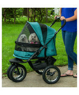 "PET GEAR NO-ZIP DOUBLE PET STROLLER-""2"" COLORs - *FREE SHIPPING IN THE U... - $409.95"