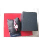 Anne Klein Women's 10/9969MASV Silver Tone Curved Bangle Watch NEW - $57.34