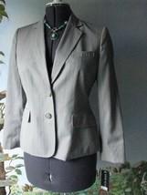 Anne Klein Women Pinstripe Gray Career Blazer Suit Jacket 8P NWT - $59.39