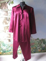 Talbots Petites Woman Petities Maroon Pure Silk Pant Suit SZ 18/20W  NWT - $92.65