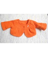 American Girl Doll Lanie Orange Jacket Cardigan Sweater Dragonfly - $13.84
