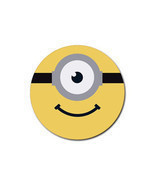 4 PACK Minion Face Banana Despicable Me Yellow Unique Design Gift Round ... - $140,70 MXN