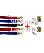 Stanchion Velour Rope + 2 pcs Wall Plates, VIP Crowd Control - $44.54+