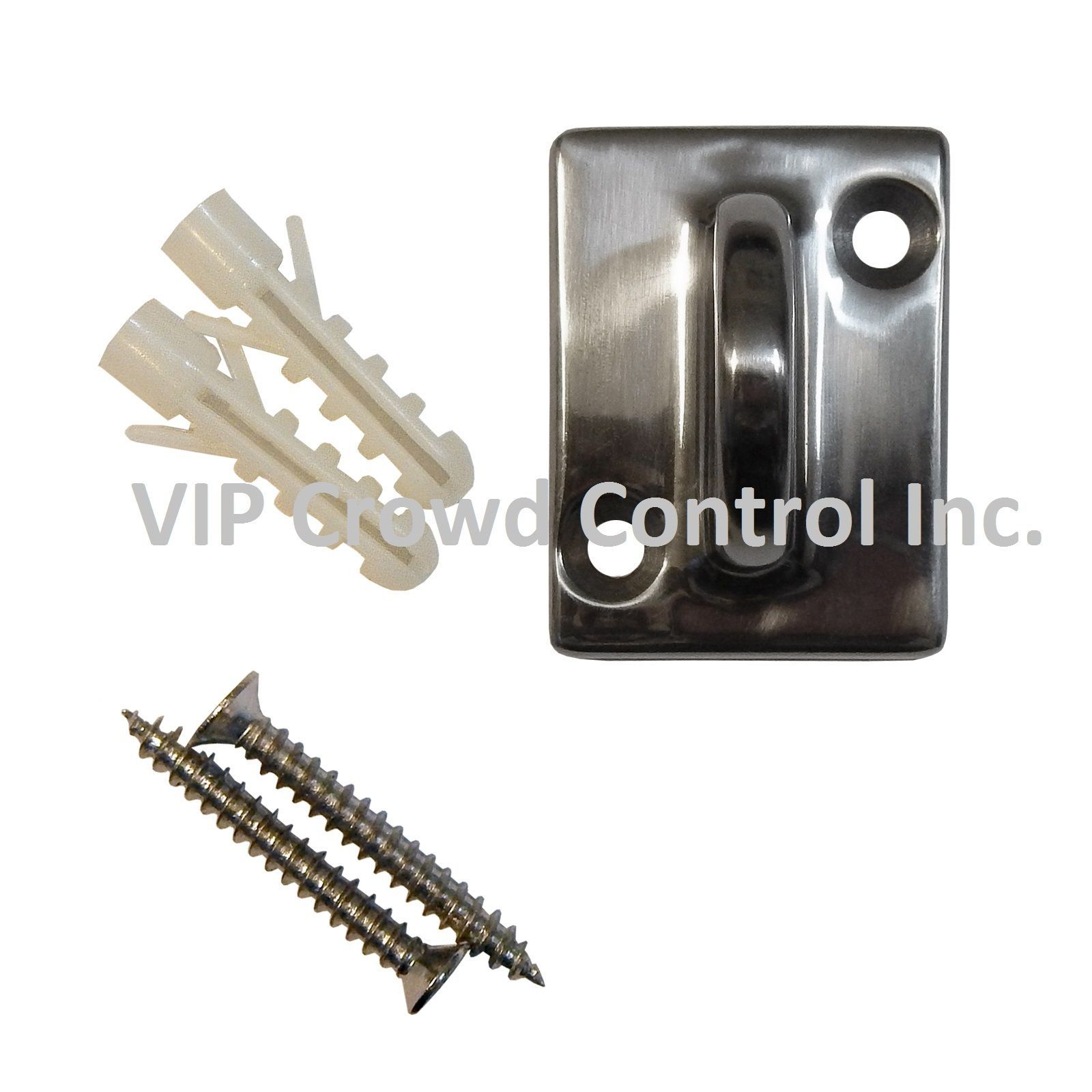 Stanchion Velour Rope + 2 pcs Wall Plates, VIP Crowd Control