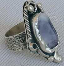 Purple glass hand made ring PHM 10  - $35.00