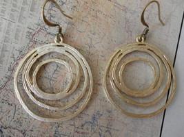Multi Rings HOOPS  MATTE Gold Earrings - $19.60