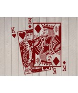 """King of Hearts and Diamonds Playing Cards Vinyl Wall Sticker Decal 22""""h ... - $29.99"""