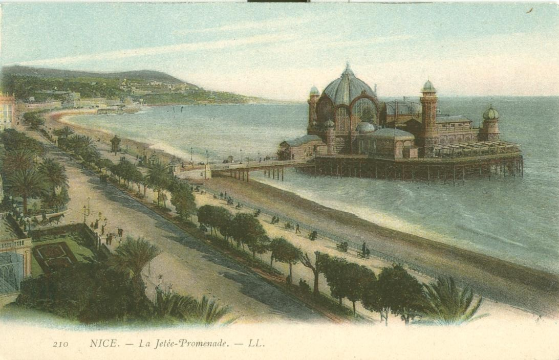 France, Nice, La Jetee-Promenade early 1900s unused Postcard CPA