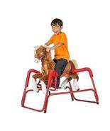Child Rocking Horse Fun Pony Talks Sing Plush Gallops Handles Saddle Age... - $196.98