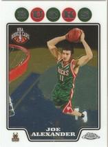 Joe Alexander Topps Chrome 08-09 #188 Rookie Miwaukee Bucks Dinamo Sassari - $0.20