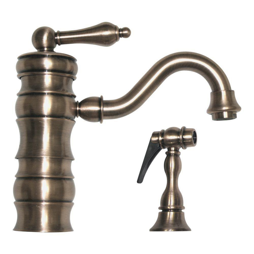 ... -1098 Vintage III Prep/Bar Kitchen Faucet w/Side Spray, BN - Faucets