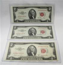 1953 53A 53B US $2 Two Dollar Bill Red Seal Notes Crisp Choice AU-Gem PC... - $66.69