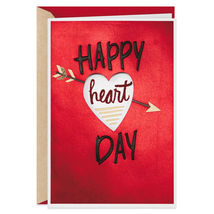 Peek Through Heart Valentine's Day Card With Envelope  - $5.99