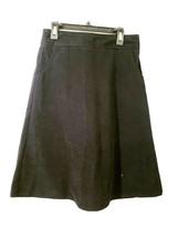 Teen Girls Skirt Beracha Midi A-Line Size 14 Junior Clothes Black Suede ... - £10.01 GBP