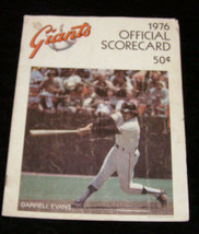 San Francisco Giants 1976 MLB baseball scorecard - $15.00