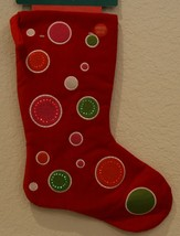 "New Kurt Adler battery fiber optic flashing 7"" X 16"" red Christmas stocking - $19.75"