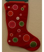 "New Kurt Adler battery fiber optic flashing 7"" X 16"" red Christmas stocking - £14.49 GBP"