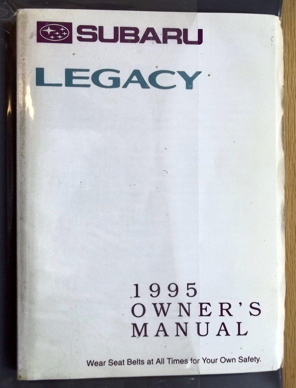 Subaru Legacy Car Auto Automobile Drivers Owners Manual 1995